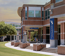 Fine Arts Building with UNF banner