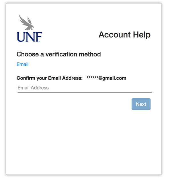 UNF - Information Technology Services - Account Password