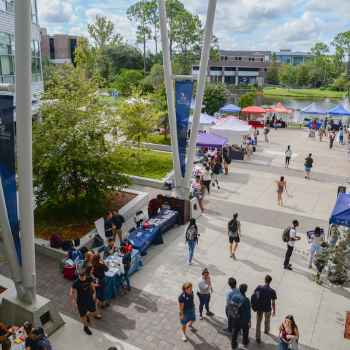 Air view of the UNF Student Union Market Day event.