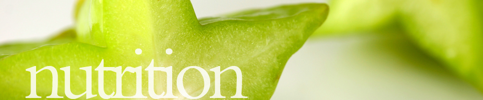 banner featuring a starfruit and the word nutrition