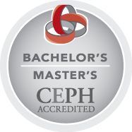 Bachelors Masters Council on Education for Public Health Accredited logo