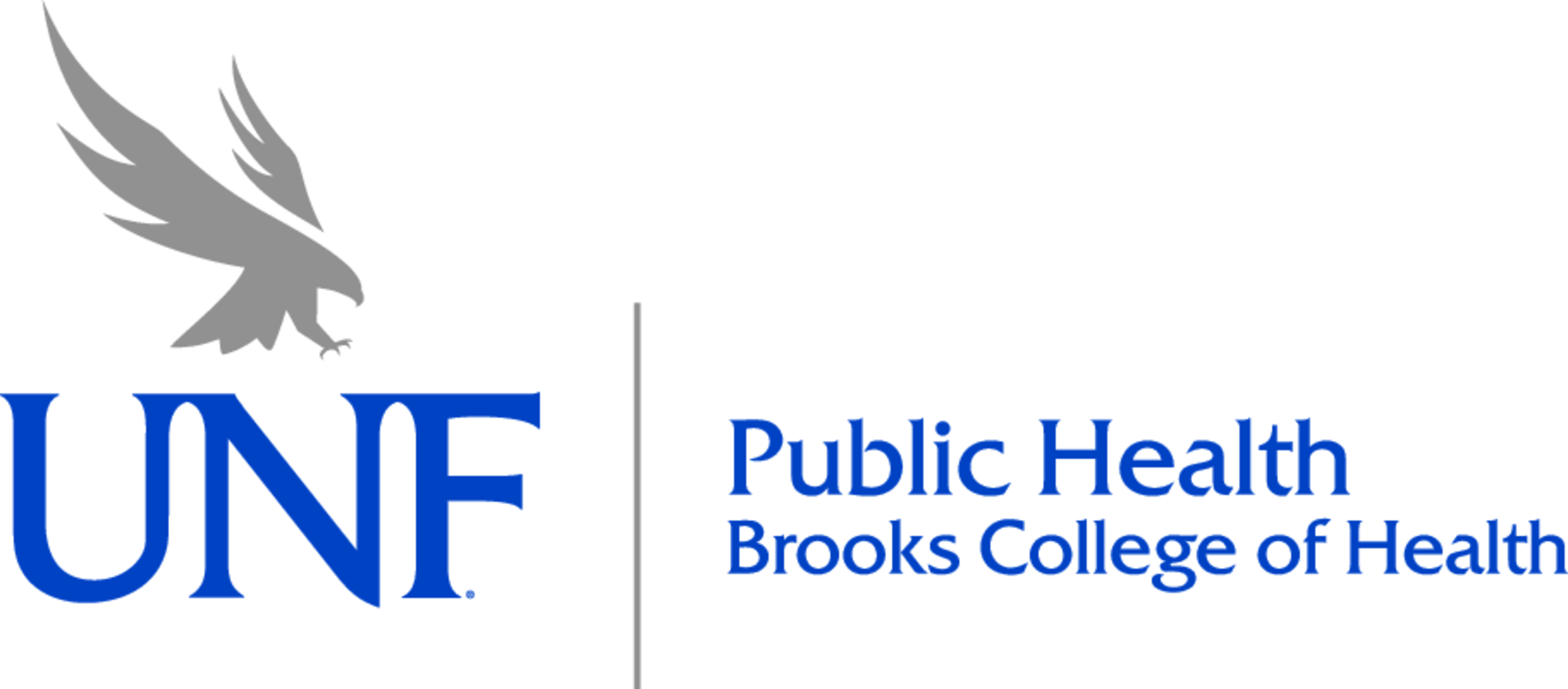 UNF Public Health Logo in Blue and Gray