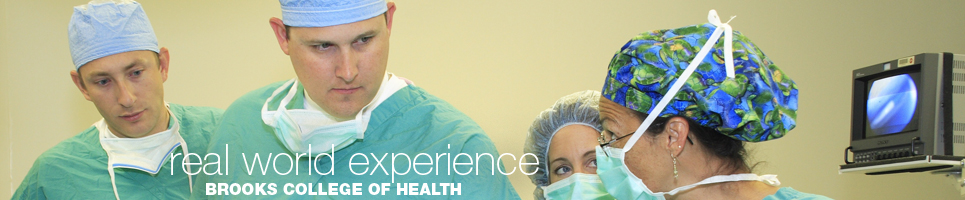 Real World Experience:  Brooks College of Health