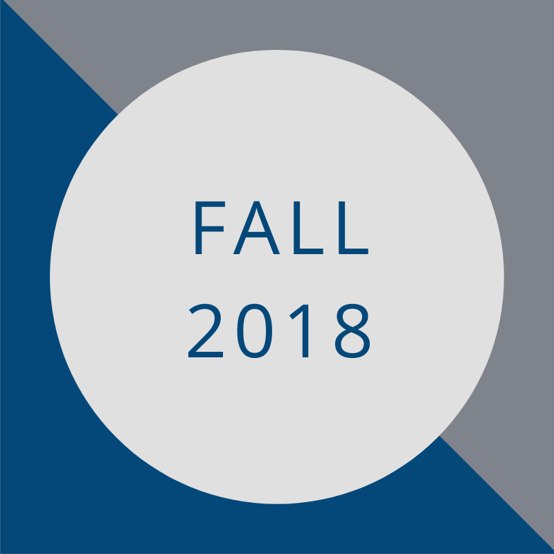 blue and gray background with the words - fall 2018