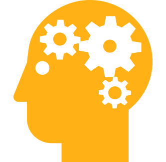graphic of person's head with gears turning