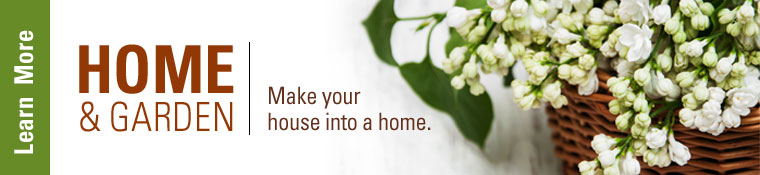 Click on banner to view home and garden classes.