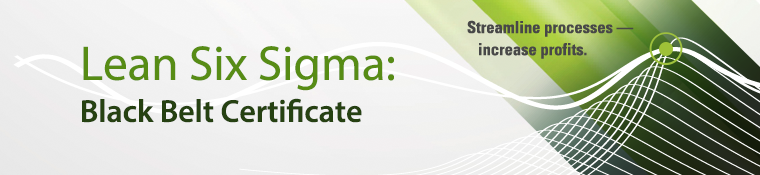 Lean Six Sigma Black Belt Certificate. Click on image to learn more.