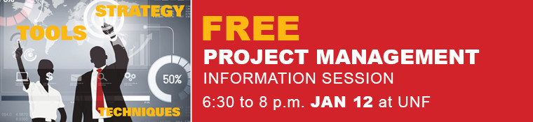 Click image to RSVP for the Project Management Information Session - January 12
