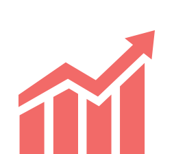 Investment chart with investments increasing