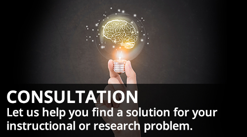 person holding lightbulb - Consultation - let us help you find a solution for your instructional or research problem