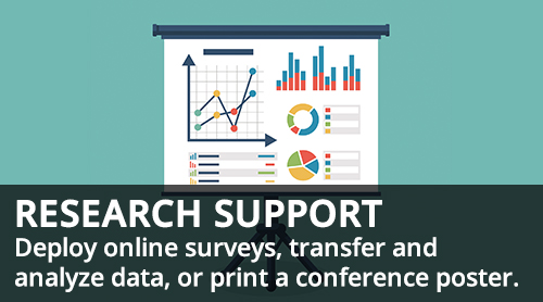 analytics graphs on whiteboard - Research Support - deploy online surveys, transfer and analyze data, or print a conference poster