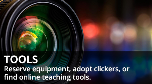 close up of camera - Tools - reserve equipment, adopt clickers, or find online teaching tools