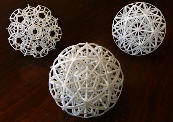 successful 3d print of a set of spheres