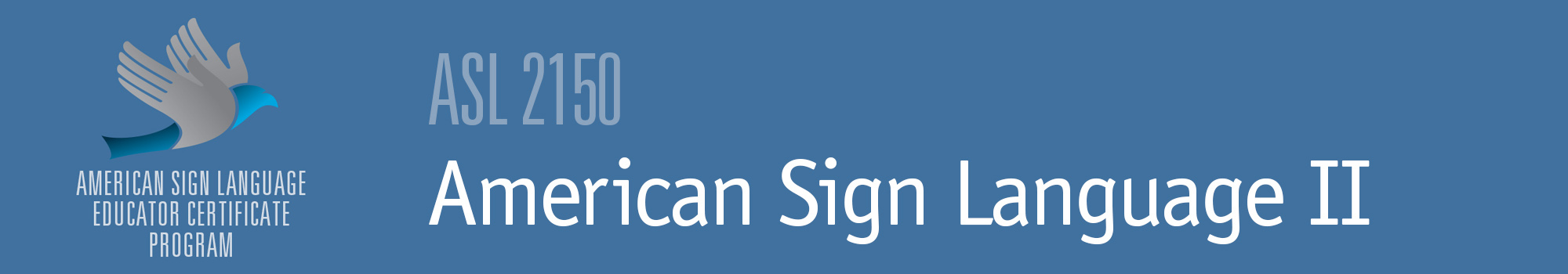Example with ASL logo and text American Sign Language 2