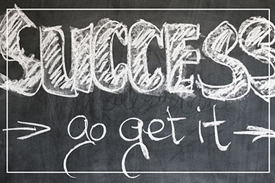 success go get it written on a chalk board