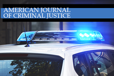 journal of criminal justice with cop car
