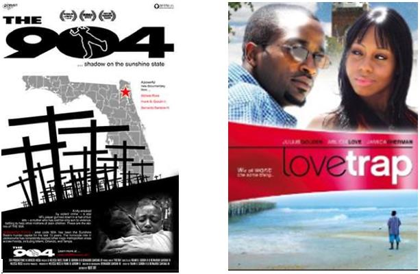 two film posters - the 904 and the love trap