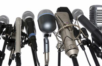 Microphones representing mass communication