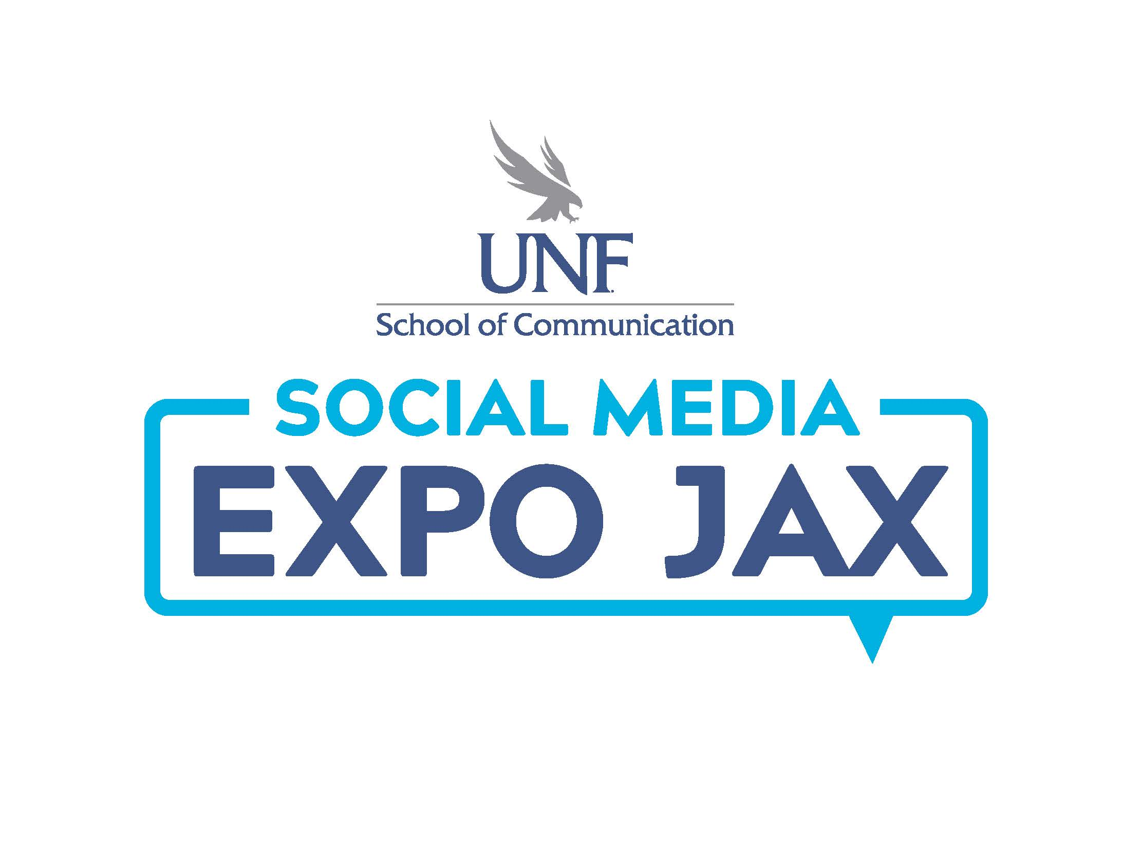 UNF school of communication - social media expo jax - logo