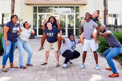 Image of UNF students having fun