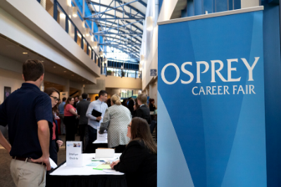 Osprey Career Fair Banner at live event