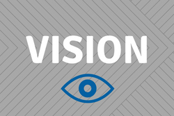 Vision - gray background with an eye icon