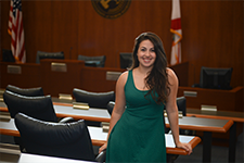 Student in the student government chamber