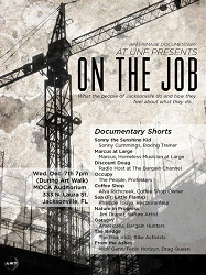 "Films showcase poster called ""On the Job"" from Spring 2012"