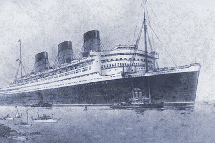 Button Research Printed Image of Queen Mary