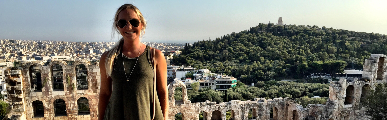 student Alex Fechtel on study abroad trip to Greece