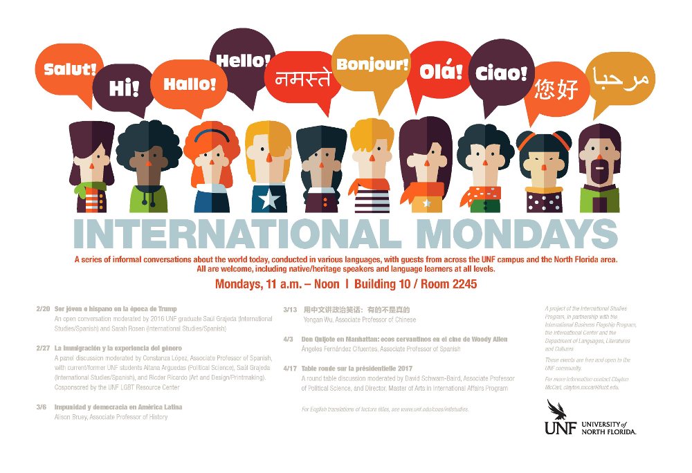 International Mondays Poster Spring 2017