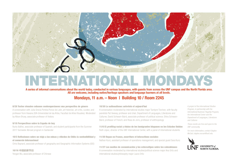 International Mondays Fall 2017 Poster