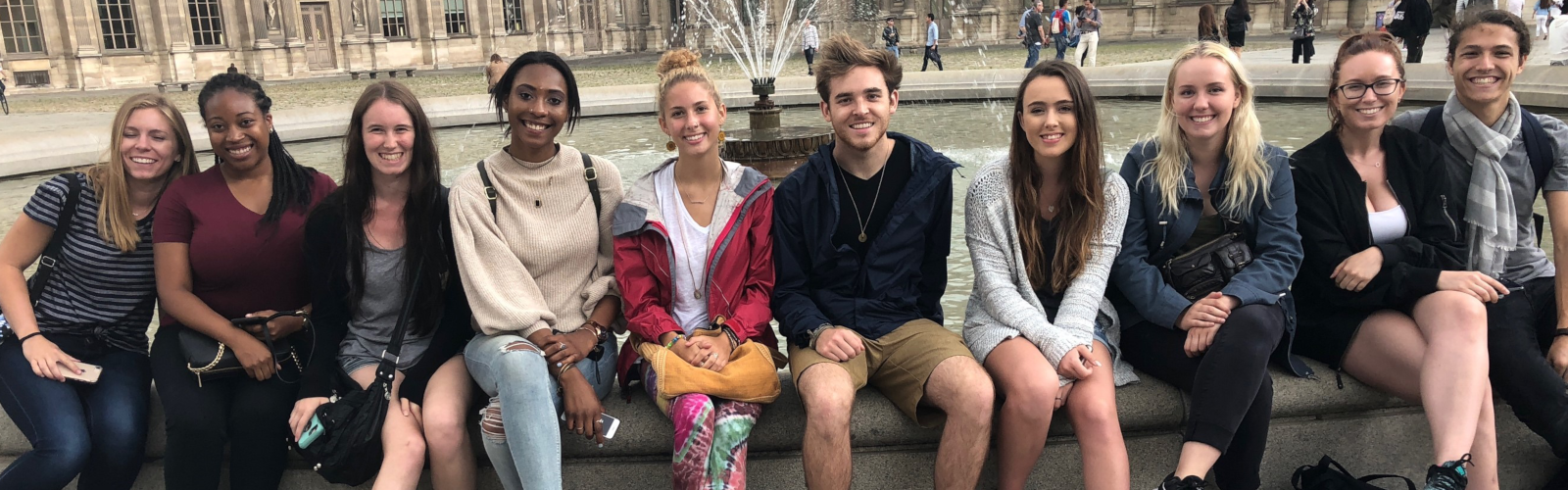 Strasbourg study abroad group in 2018