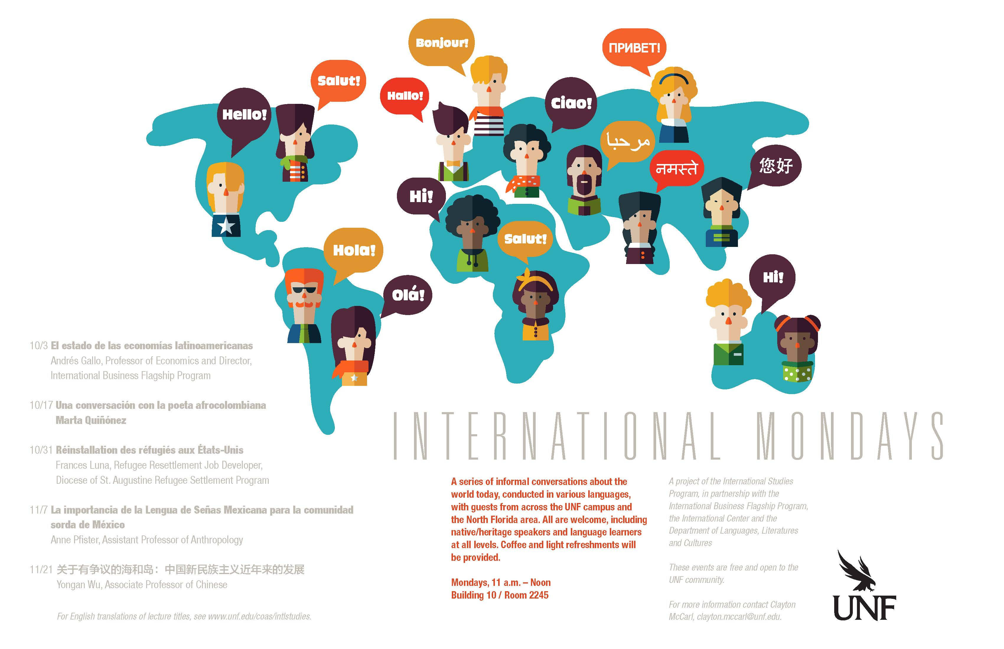 International Mondays, Fall 2016