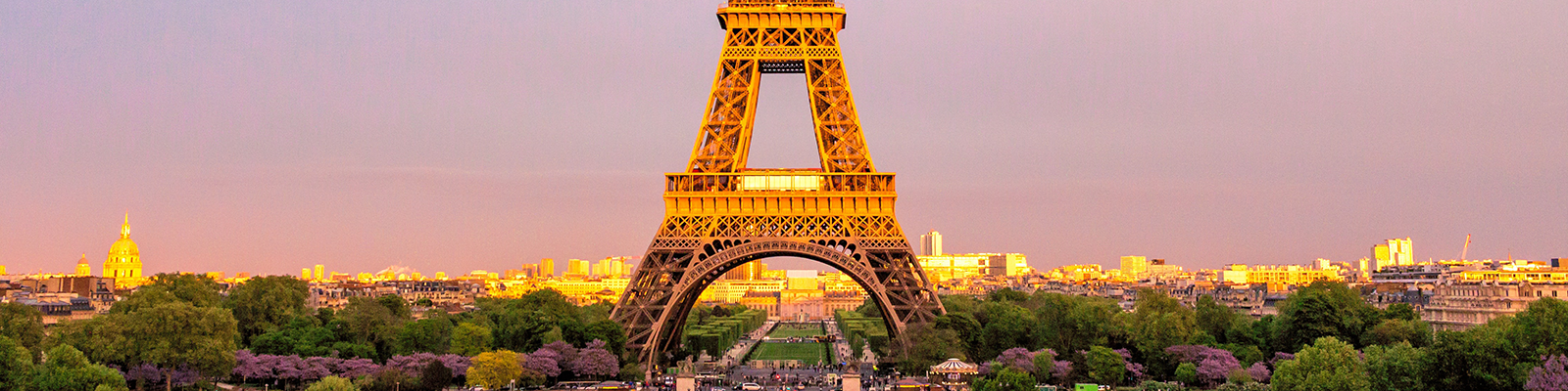 shot of the Eiffel tower in France