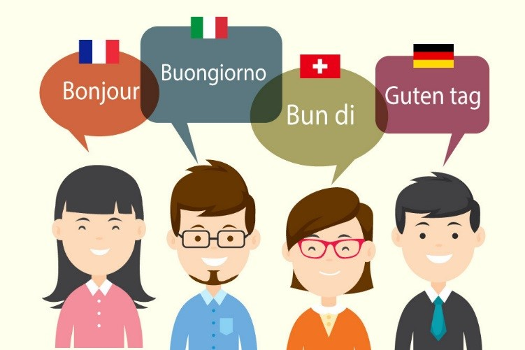 animated people with Hello in different languages