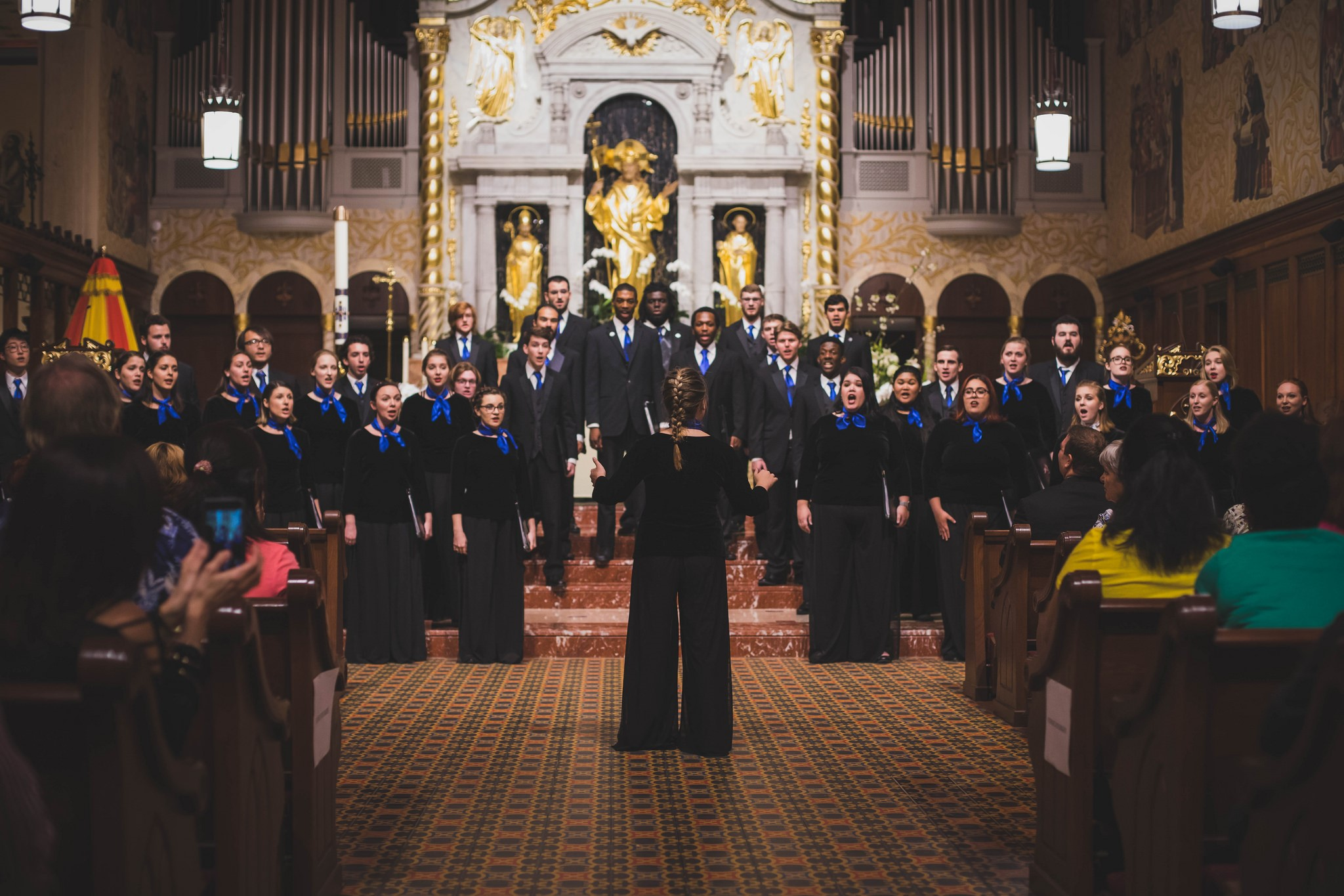 Chamber Singers performing at Seeking Refuge Concert