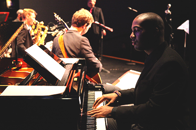 Jazz pianist Liston Gregory at a concert