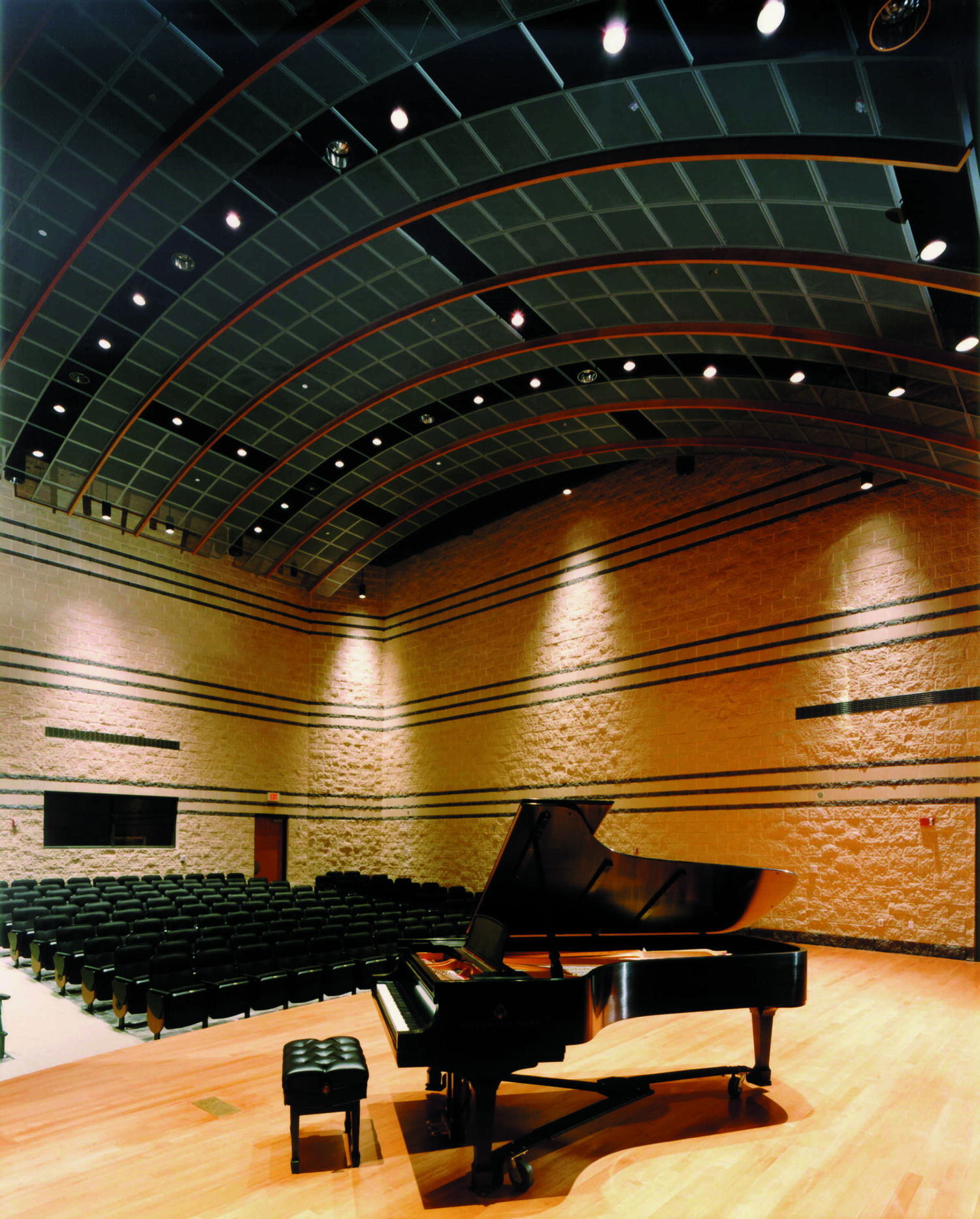 Recital Hall with piano on stage