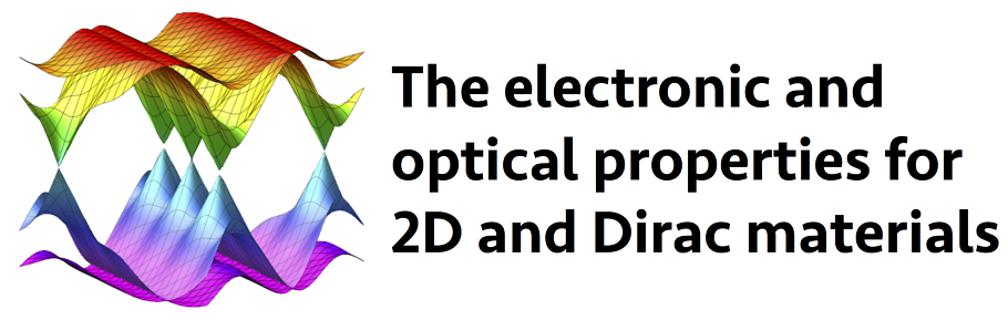 The electronic and optical properties for 2D and Dirac materials - color waves