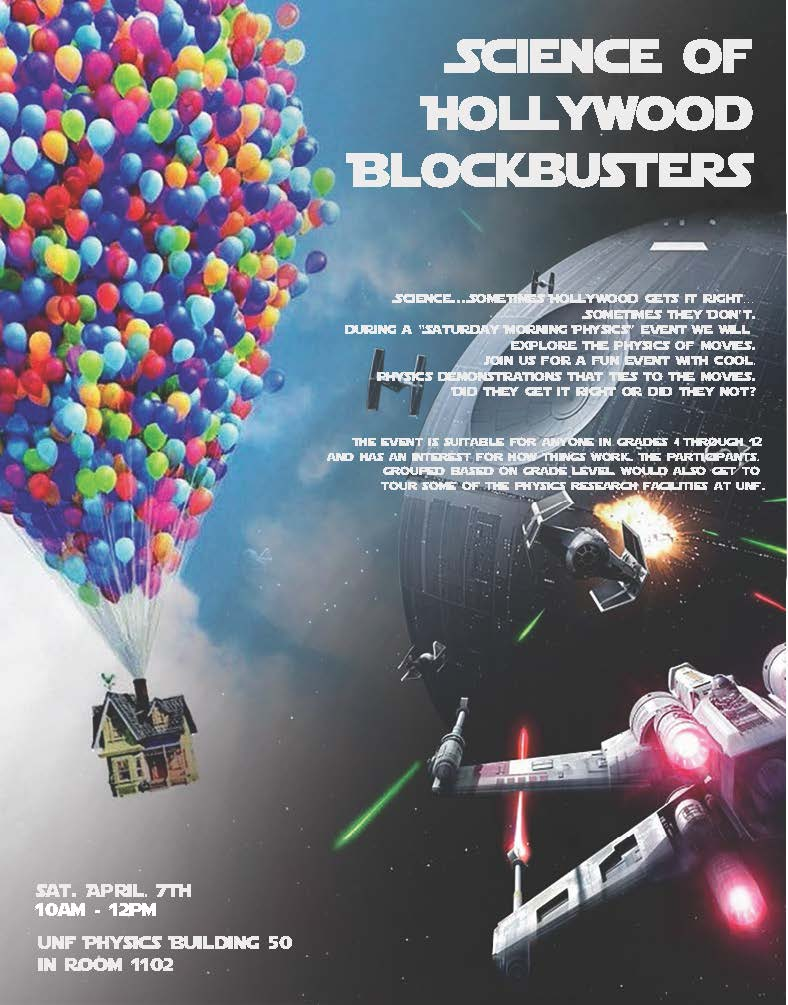 SMP Science of Hollywood Blockbusters flyer