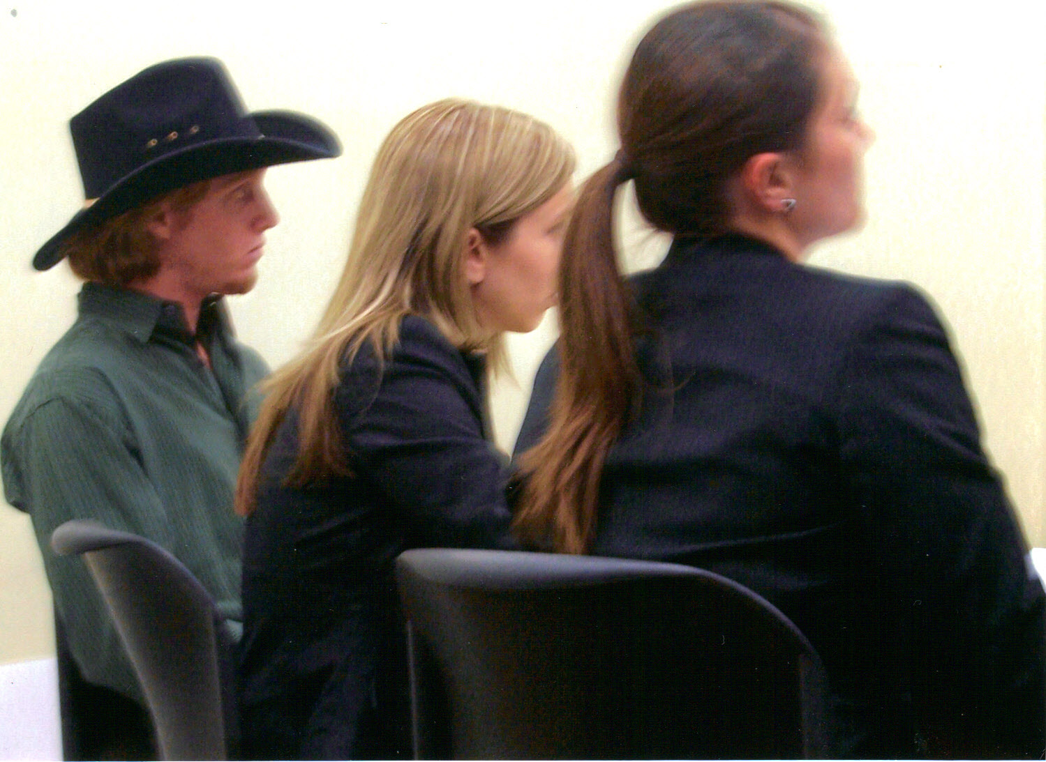 John Spellacy as Defendant Brace Breemer with Counsels Kristen Saam and Anna Beyer