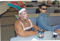 Tonto waits to testify in the Lone Ranger Trial