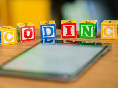 coding spelled out in blocks