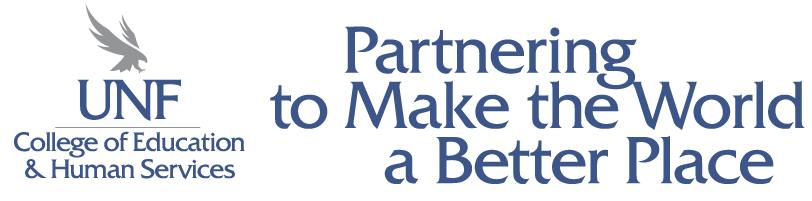 The UNF Logo with the text: Partnering to Make the World a Better Place