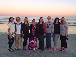 Graduate Interpreting Students and Faculty at Jacksonville Beach