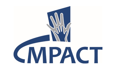 Impact logo two animated hands over one another