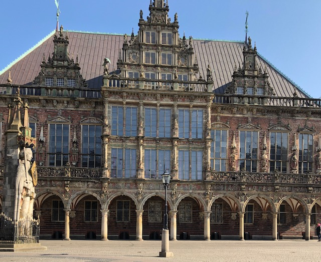 View of Bremen's Town Hall building