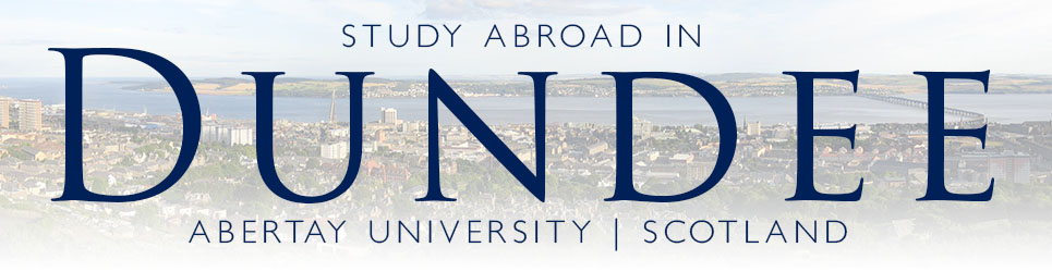 Study abroad in Dundee. Abertay University, Scotland.