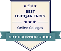 2018 LGBTQ-Friendly Online College by SR Education Group